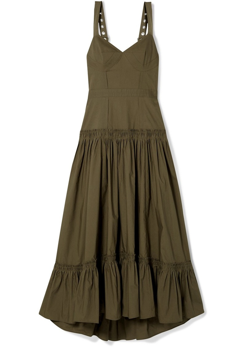 Proenza Schouler Tiered Poplin Maxi Dress
