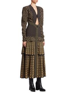 Proenza Schouler Tiered Puff-Sleeve Midi Dress