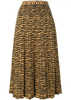 Proenza Schouler Tiger Jacquard Knit Pleated Skirt