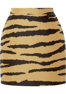 Proenza Schouler Tiger-print Wool And Silk-blend Jacquard Mini Skirt