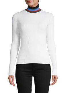 Proenza Schouler Turtleneck Cotton-Blend Pullover Sweater