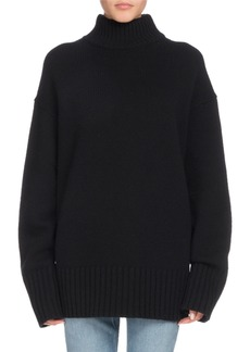 Proenza Schouler Turtleneck Long-Sleeve Wool-Cashmere Oversized Sweater