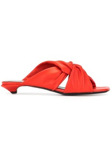 Proenza Schouler twisted straps 25mm mules