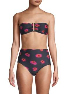 Proenza Schouler Two-Piece Printed Bandeau Bikini