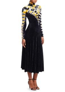 Proenza Schouler Velvet Midi Turtleneck Dress