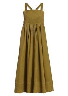 Proenza Schouler Washed Cotton Apron Dress