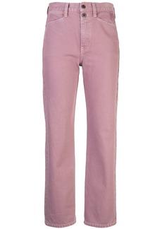 Proenza Schouler washed denim cropped trousers