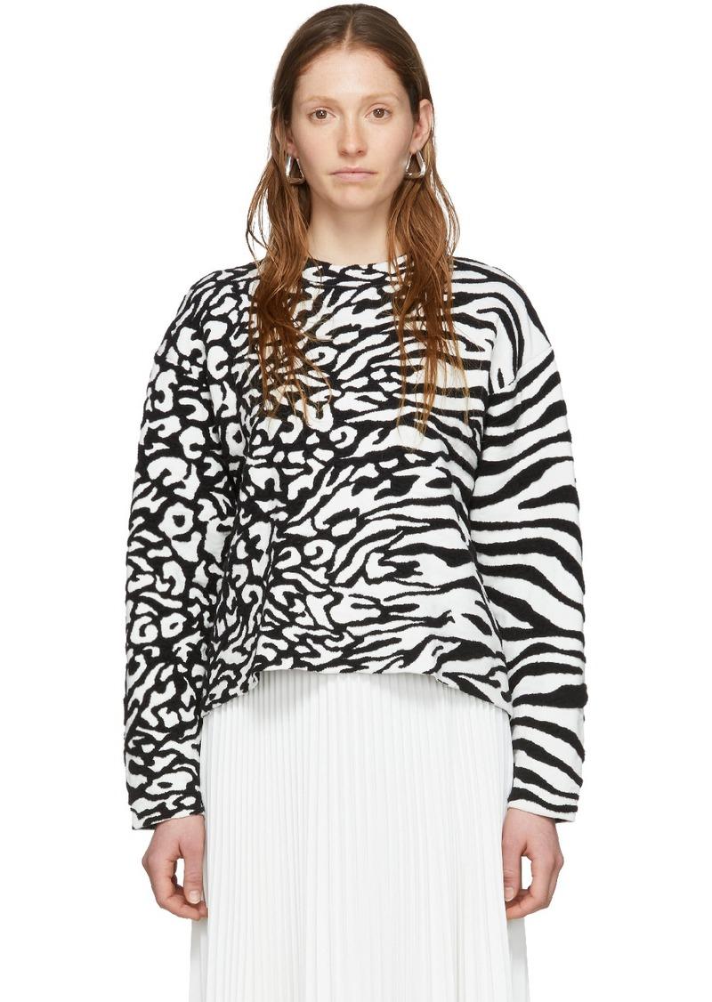 White & Black 'Proenza Schouler White Label' Animal Jacquard Knit Sweater