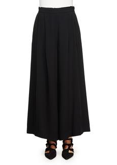 Proenza Schouler Wide-Leg Crepe Pants  Black