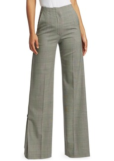 Proenza Schouler Wide-Leg Plaid Wool Pants