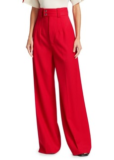 Proenza Schouler Wide-Leg Stretch Wool Pants