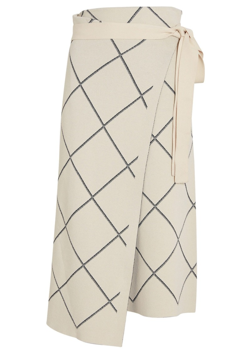 Proenza Schouler Windowpane Wrap Skirt