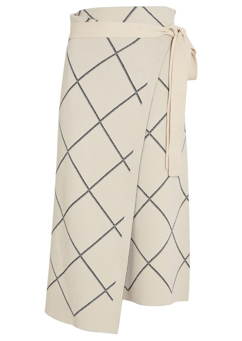 Proenza Schouler Windowpane Wrap Skirt