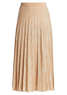 Proenza Schouler Woodgrain Jacquard Pleated Midi Skirt
