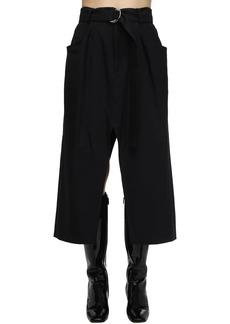 Proenza Schouler Wool Blend Twill Midi Skirt