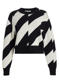 Proenza Schouler Wool Cotton Jacquard Sweater