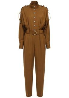 Proenza Schouler Wool Jumpsuit W/ Belt