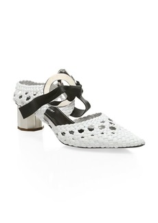 Proenza Schouler Woven Leather Ring Heels