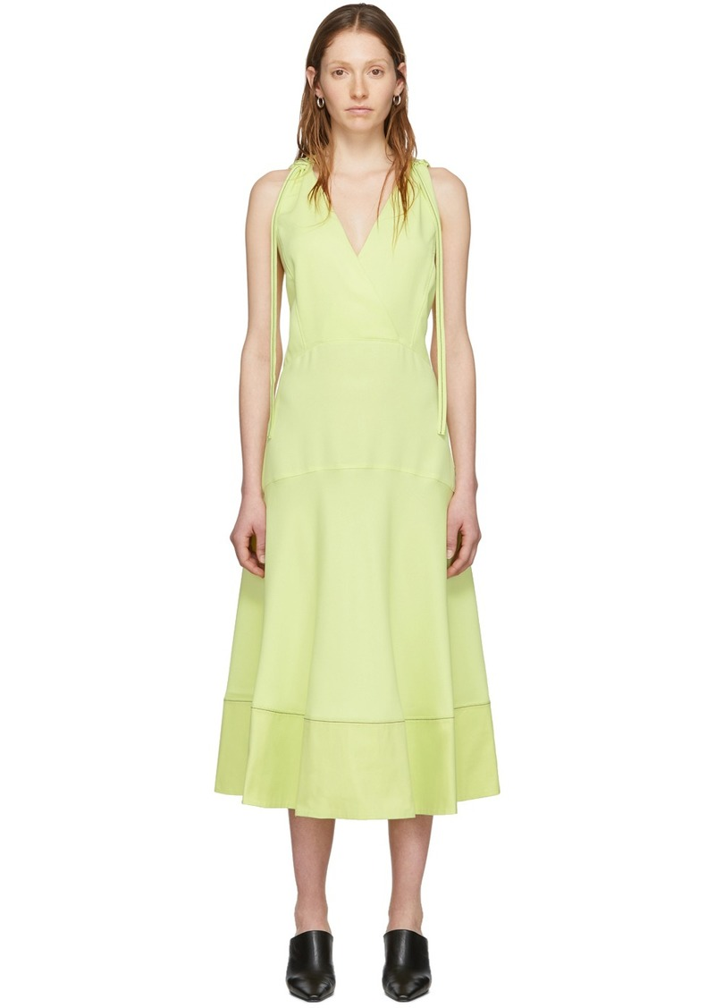 Yellow 'Proenza Schouler White Label' Sleeveless Deep V Dress