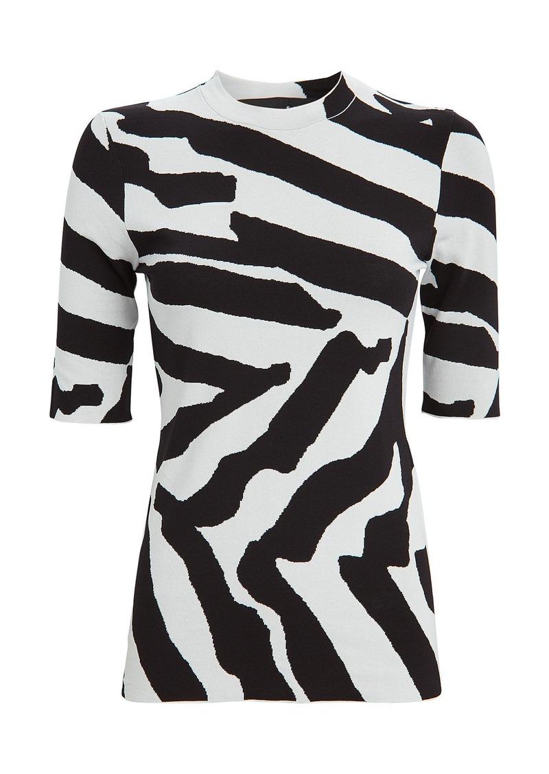 Proenza Schouler Zebra Jacquard Knit Top