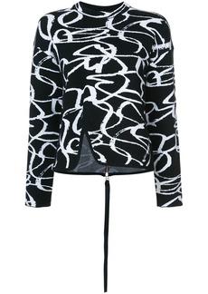 Proenza Schouler Zipped Back Brushstroke Sweater