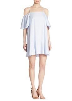 Prose & Poetry Clemence Cold-Shoulder Cotton Dress
