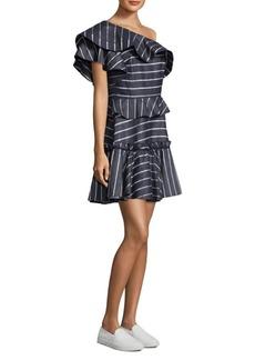 Prose & Poetry Grettel One-Shoulder Ruffle Dress