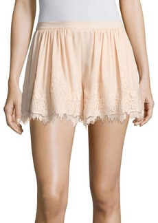 Prose & Poetry Orly Lace Trim Swing Shorts