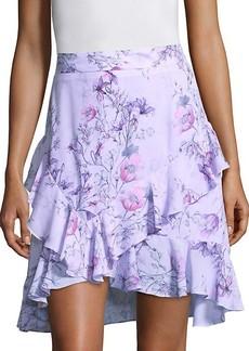 Prose & Poetry Tessie High-Waist Orchid-Print Skirt