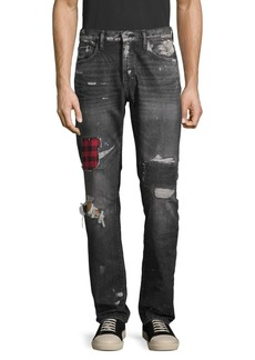 Prps Checkered Distressed Jeans