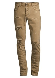 Prps Le Sabre Rip And Repaired Comfort Stretch Jeans