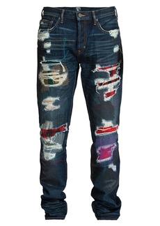 Prps Le Sabre Slim-Fit Distressed Patch Jeans