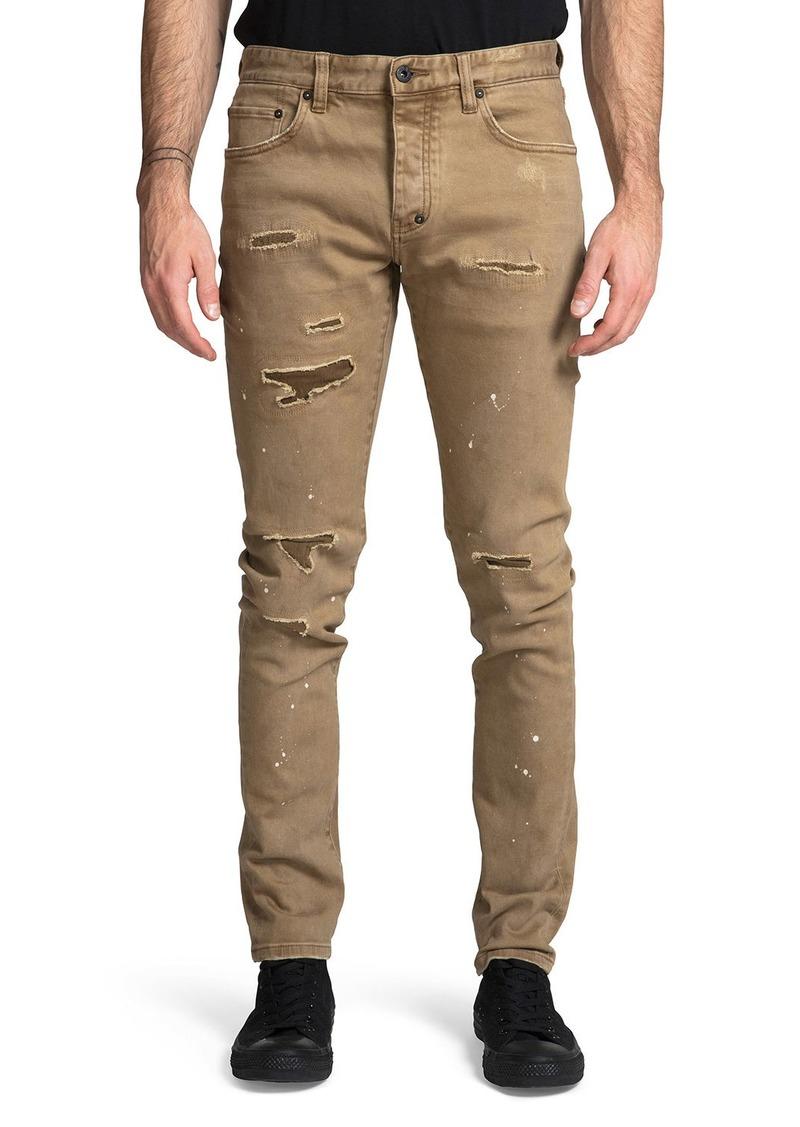Prps Men's Le Sabre Stretch Rip/Repair Jeans with Paint Spots