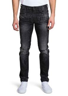 Prps Men's Windsor Fit Stretch Denim Jeans w/ Double-Rip Details