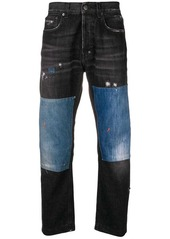 Prps panelled straight jeans