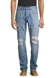 Prps Plaid Distressed Jeans