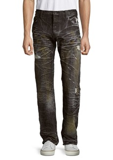 Prps Agreement Distressed Cotton Denim Pants