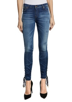 PRPS Camaro Lace-Up Ankle Skinny Jeans