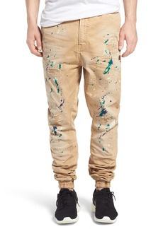 PRPS 'Damiana' Splatter Paint Stretch Woven Jogger Pants
