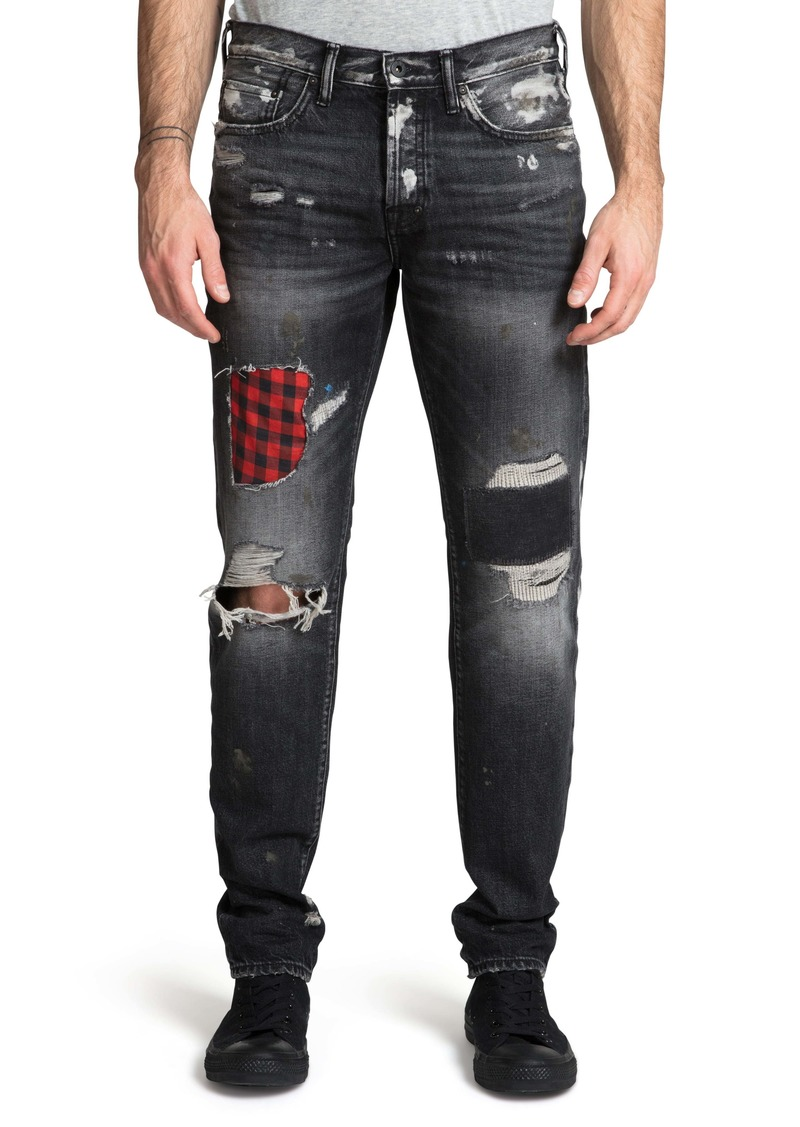 PRPS Demon Destroyed Slim Straight Leg Jeans (Lorrain)