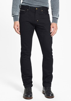 PRPS 'Demon' Slim Straight Leg Selvedge Jeans (Black Raw)