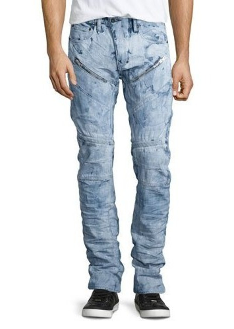 PRPS Demon Washed Out Moto Jeans