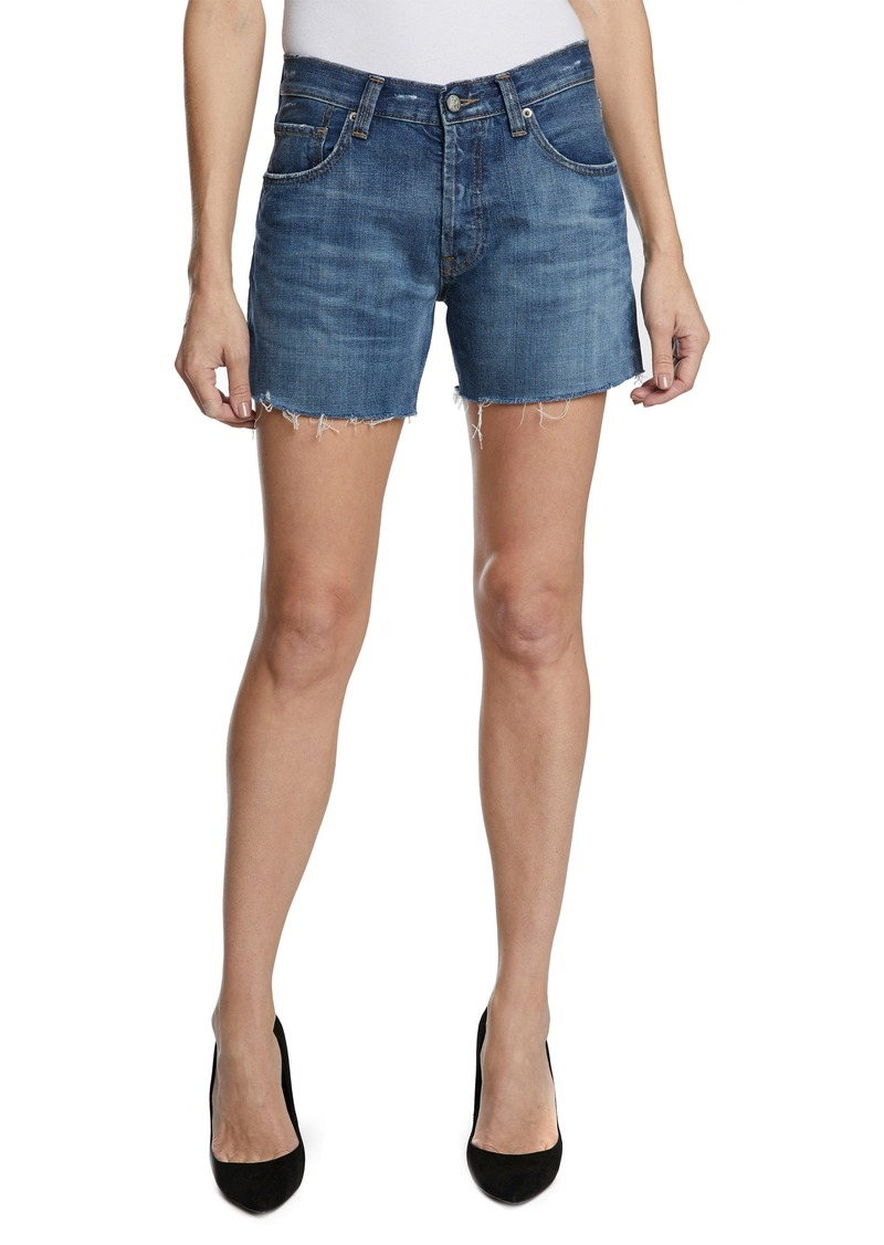 PRPS El Camino Cutoff Denim Boyfriend Shorts