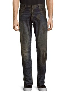 Prps Extracting Partially Distressed Cotton Jeans