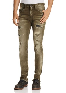PRPS Goods & Co. Earthly Super-Slim Fit Jeans in Green