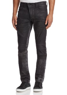 PRPS Goods & Co. Le Sabre Moto Slim Fit Jeans in Black