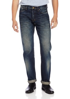 PRPS Goods & Co. Men's Barracuda Regular Fit Straight Leg Selvedge Jean in