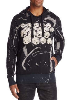 PRPS Goods & Co. Skull and Splatter Hooded Sweatshirt