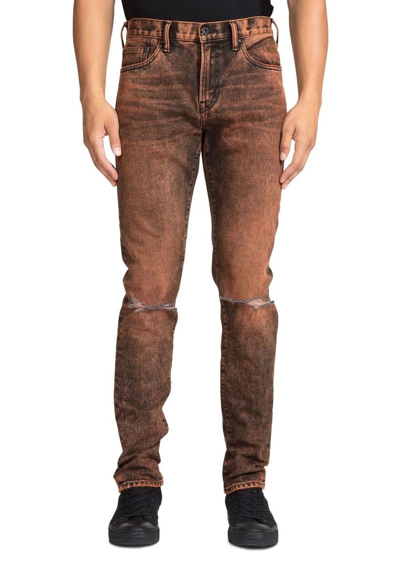PRPS Hurculese Tapered Slim Fit Jeans in Orange