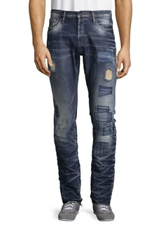 Prps lan Patched Cotton Jeans